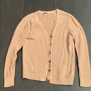 J.Crew 100% Cotton Open Knit Cardigan, Large